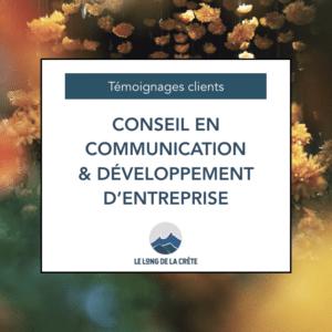 Témoignages_Conseil en comm et développement entreprise