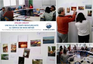 Atelier Le long de la crête Laurette Cot pour FNEJE IDF_2020