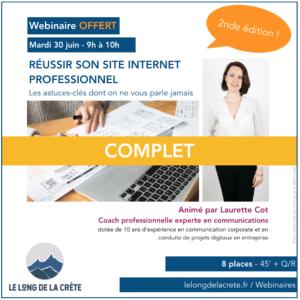 Webinaire Laurette Cot Réussir son site internet professionnel_LELONGDELACRETE