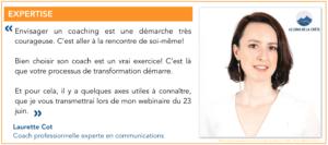 Webinaire 2306_Comment bien choisir son coach ?_Par Laurette Cot LE LONG DE LA CRÊTE_Citation Laurette Cot