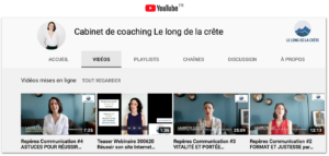 Vidéos expertise YouTube Laurette Cot LE LONG DE LA CRÊTE COACHING