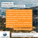 Témoignage clients_Coaching professionnel_Laurette Cot Le long de la crête_Émilie2